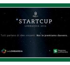 STARTCUP LOMBARDIA 2016, APRONO LE ISCRIZIONI