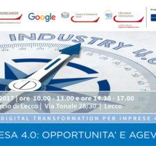 IMPRESA 4.0: OPPORTUNITÀ E AGEVOLAZIONI – 4 MAGGIO 2017