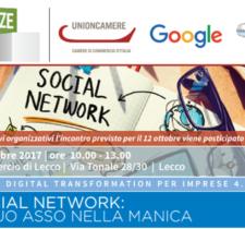 SOCIAL NETWORK: IL TUO ASSO NELLA MANICA | 18 OTTOBRE 2017, ORE 10.00