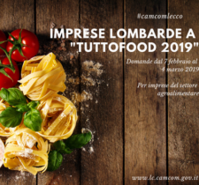 "BANDO ""IMPRESE LOMBARDE A TUTTOFOOD 2019"""